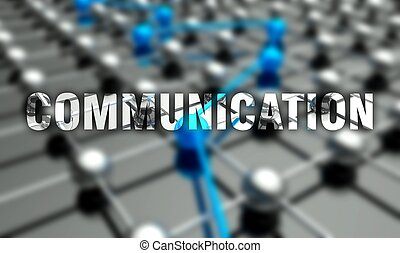 Communication concept, network background