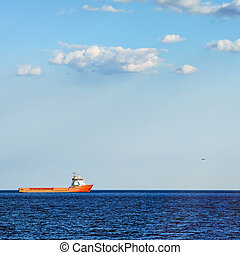 Supply Ship in the Black Sea