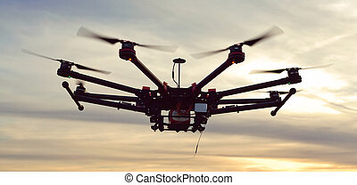 Quadcopter, copter, drone - Professional copter for shooting...