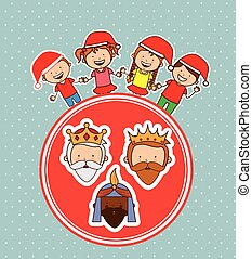 happy epiphany design, vector illustration eps10 graphic
