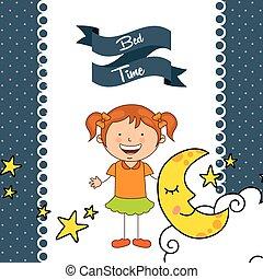 bed time design, vector illustration eps10 graphic