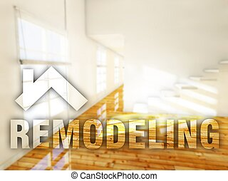 Remodeling home creative conceptual illustration
