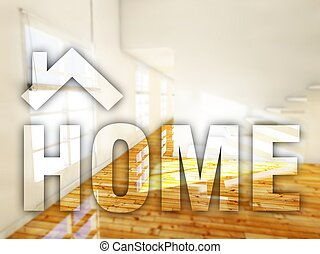 Home interior creative conceptual illustration