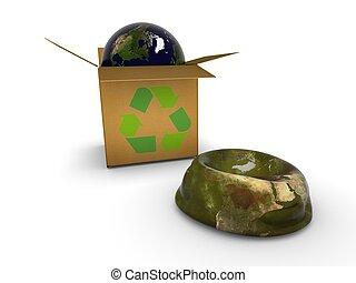 Earth in box