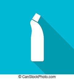 Flat cleaner bottle - Vector white flat cleaner bottle for...