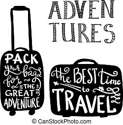 Travel inspiration quotes on case silhouette - Travel...