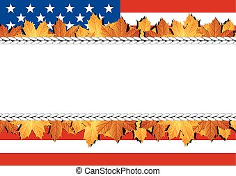 American Flag Banner Vector illustration Balloons background...