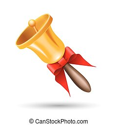 Christmas bell with a red bow