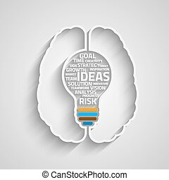 Innovate bulb - Business concept bulb made with words in a...