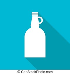 Vector flat apple cider vinegar bottle template - Vector...