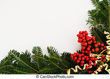 Christmas border - A decorative border/frame composed of...