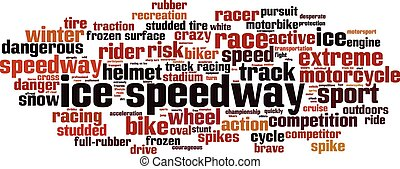 Ice speedway word cloud - horizon - Ice speedway word cloud...
