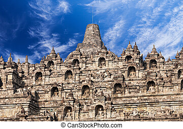 Borobudur Temple - Stupas in Borobudur Temple, Central Java,...