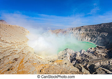 Ijen volcano - The Ijen volcano is a stratovolcano in the...