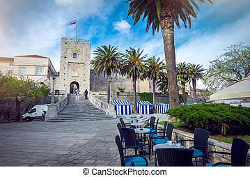 Main gate of Korcula city - Main gate of Korcula old town...