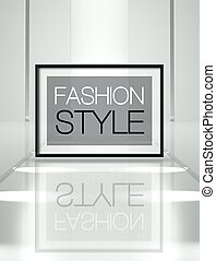 Fashion style on empty runway - Fashion style concept on...