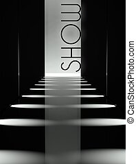 Dark design fashion show runway background - Dark design,...