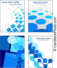Business card templates with mosaic background - Collection...