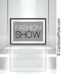 Fashion show on empty runway - Fashion show concept on empty...