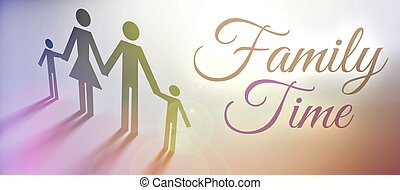 Family time concept creative illustration - Family time...