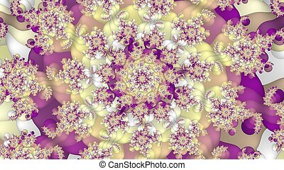 Colorful abstract fractal background - Digitally created...