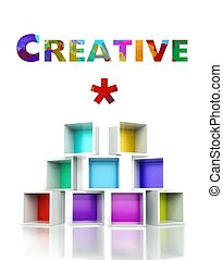 Creative with colorful 3d design illustration