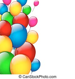 Background with glossy balloon
