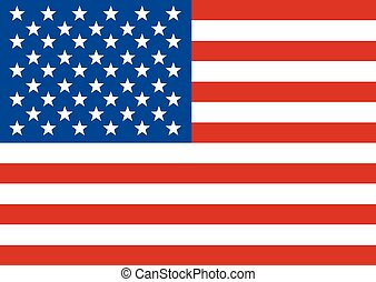 American Flag. Flag of the United States of America.