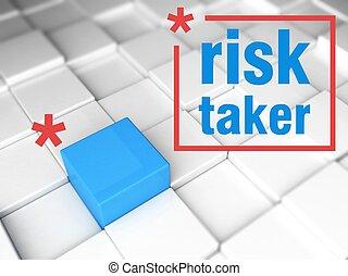 Risk taker concept. one unique leader - Risk taker concept,...