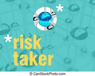 Risk taker concept. unique leader individualist - Risk taker...