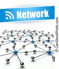 Network. Conception of internet and communication
