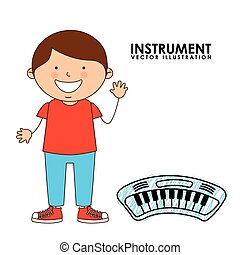 musical instrument design, vector illustration eps10 graphic...