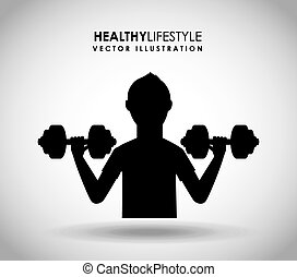 healthy lifestyle design, vector illustration eps10 graphic