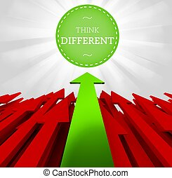 Individuality concept. Think different