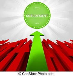 Individuality concept. Employment
