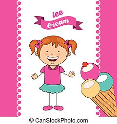delicious ice cream design, vector illustration eps10...