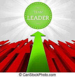 Individuality concept. Team leader