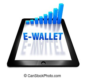 3d graph and e-wallet on digital tablet - 3d graph and...