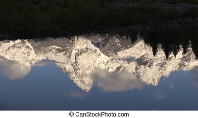Teton Reflection - the reflection of the tetons in fall...