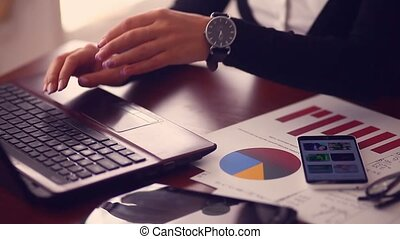 close-up hands of men and women businessman running distant...
