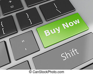 3d Keyboard with buy now button