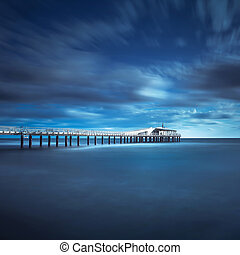 Pier soft water long exposure Lido Camaiore versilia Tuscany...