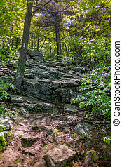 Large Rocks along AT - Large rocks on the Appalachian Trail...