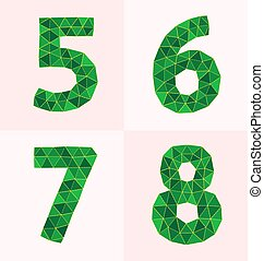 polygonal number - collection of colorful polygonal number