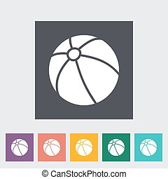 Beach ball icon Flat vector related icon for web and mobile...