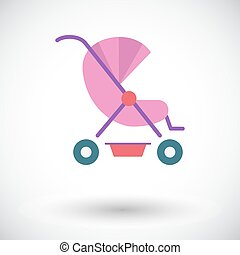 Pram icon Flat vector related icon for web and mobile...