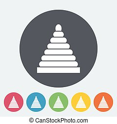 Pyramid toy icon Flat vector related icon for web and mobile...