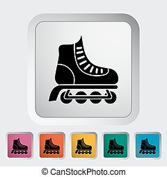 Roller skate icon Flat vector related icon for web and...