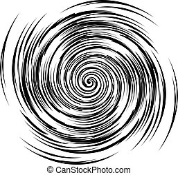 Black and white spiral vector - Vector image of black and...