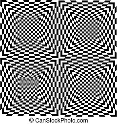 Black and white seamless tile, vector - Pattern of black and...
